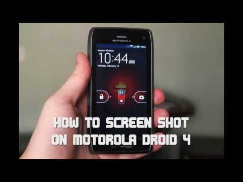 ANDROID: HOW TO TAKE A SCREEN SHOT [Motorola Droid 4]
