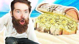 We Found a GOĻDEN Treasure Chest!