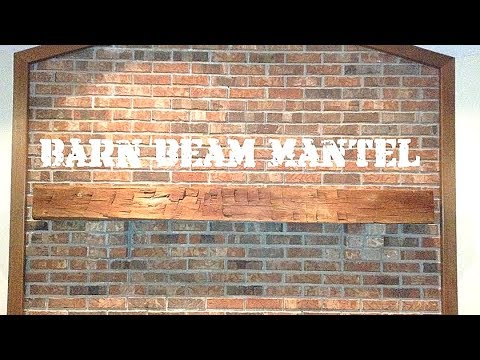 How to Install a Fireplace Barn Beam Mantel - French Cleat