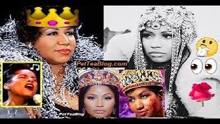 Nicki Minaj Calls Aretha Franklin 'Queen PETTY' ???? Alicia Keys Pays Tribute Singing ????