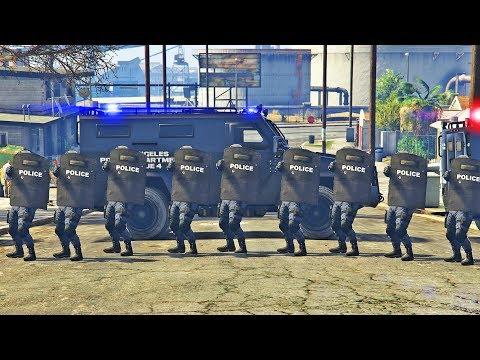 GTA 5 - SWAT Team RIOT SHIELD Squad! LSPDFR Cops Episode #161