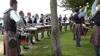 Ards 2014 - Cullybackey Pipe Band Drum  Corps - 6/8 Warm up