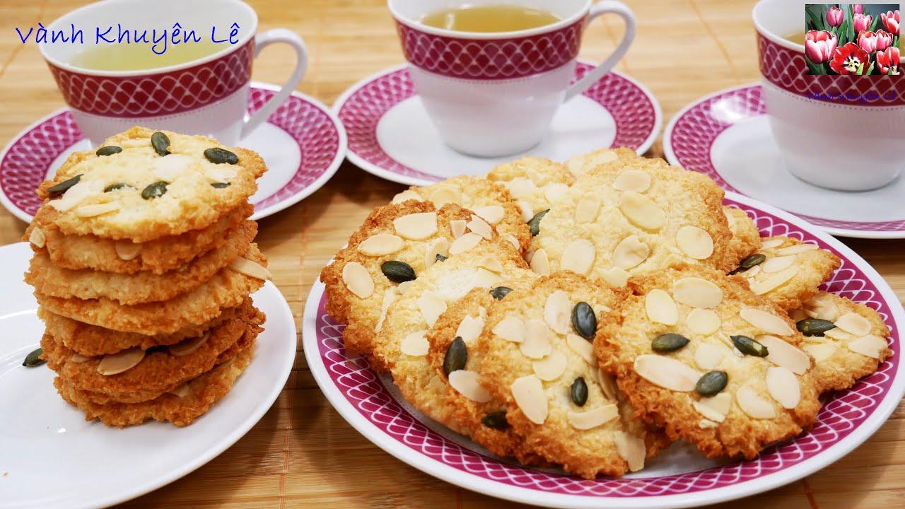 BÁNH QUY DỪA - Làm Bánh KHÔNG CẦN MÁY - Bánh DỪA NƯỚNG giòn ngon dễ làm cho Tiệc Trà by Vanh Khuyen