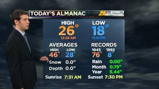 Meteorologist Mike Joyce Weather WFMJ-TV March 16 2014 11 pm