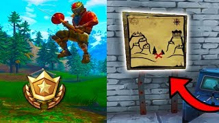 "Fortnite ""SNOBBY SHORES TREASURE MAP"" LOCATION Week 3 Fortnite Battle Royale Challenge EASY Tutorial"