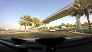 Driving in Dubai - Dubai Internet City to Burj Al Arab