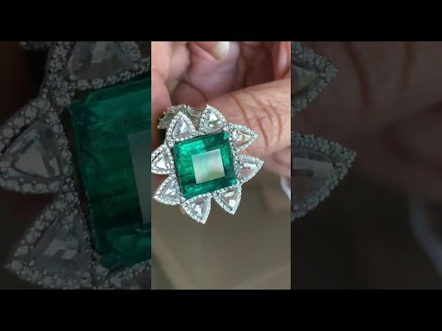 Bina Goenka ring with Zambian emerald from Gemfields
