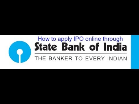 How to apply IPO online thru State Bank of India = हिंदी में जाने