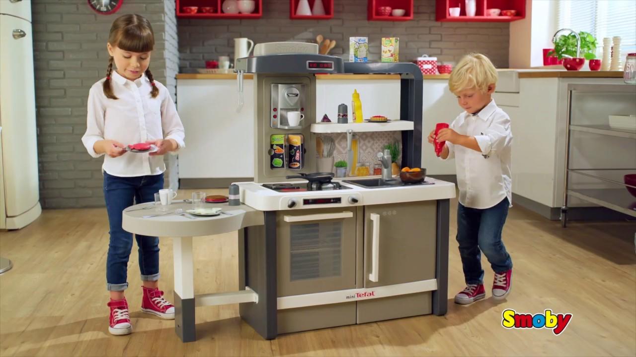 Растущая Детская кухня Smoby Tefal Evolutive кипение 40 акс.