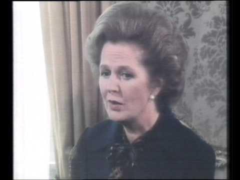 George Negus drills the racist & arrogant Margaret Thatcher 1981