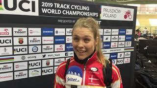 Julie Leth efter VM-bronzemedaljen i parløb 2019