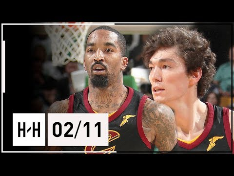 JR Smith & Cedi Osman Highlights Cavaliers vs Celtics (2018.02.11) - CRAZY Poster by JR!
