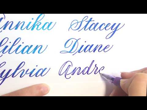 Writing names in Faux Calligraphy