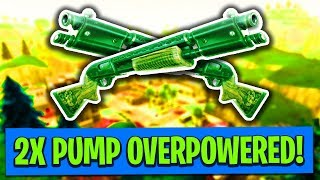 DOUBLE PUMP IS OVERPOWERED! (Fortnite: Battle Royale Epic Fail Funny Moments)