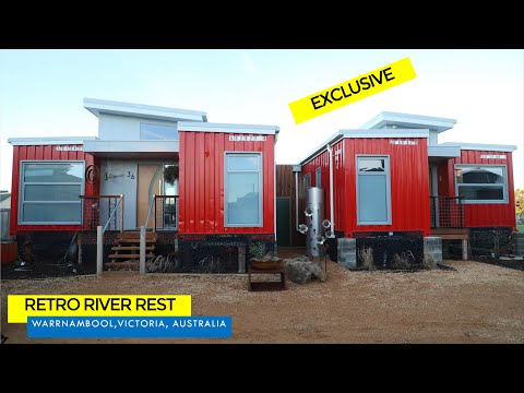 Retro River Rest: Shipping Container House in Warrnambool