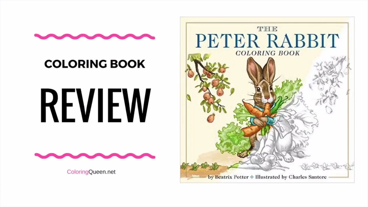 The Peter Rabbit Coloring Book Review - Charles Santore - YouTube