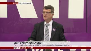Gerard Batten Launches UKIP European Parliament Election Campaign