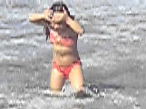 Dannia en la playa