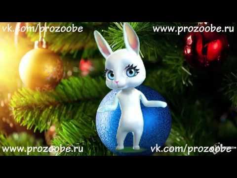 Поздравление подруги С Новым 2017 Годом! Креативные красивые поздравления от ZOOBE Зайки - Ржачные видео приколы