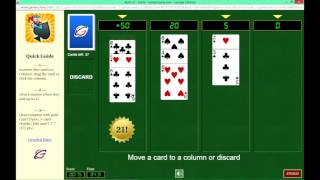Rush-21 or BlackJack Solitaire Web App -  Online Tournaments at GameColony.com