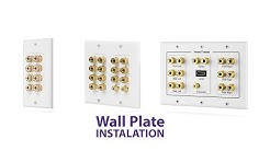 How To DIY Fosmon Home Theater Low Voltage Wall Plate Installation