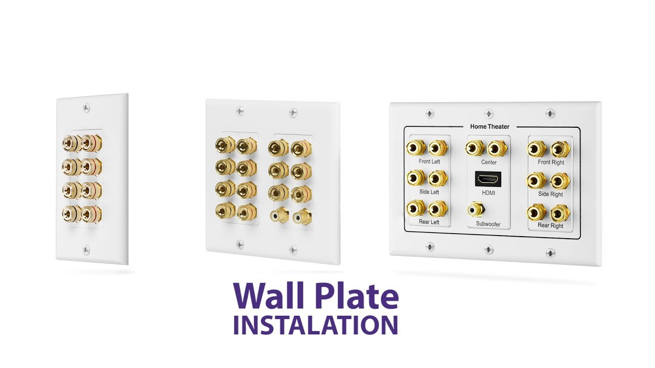 how to diy fosmon home theater low voltage wall plate installation hd8137