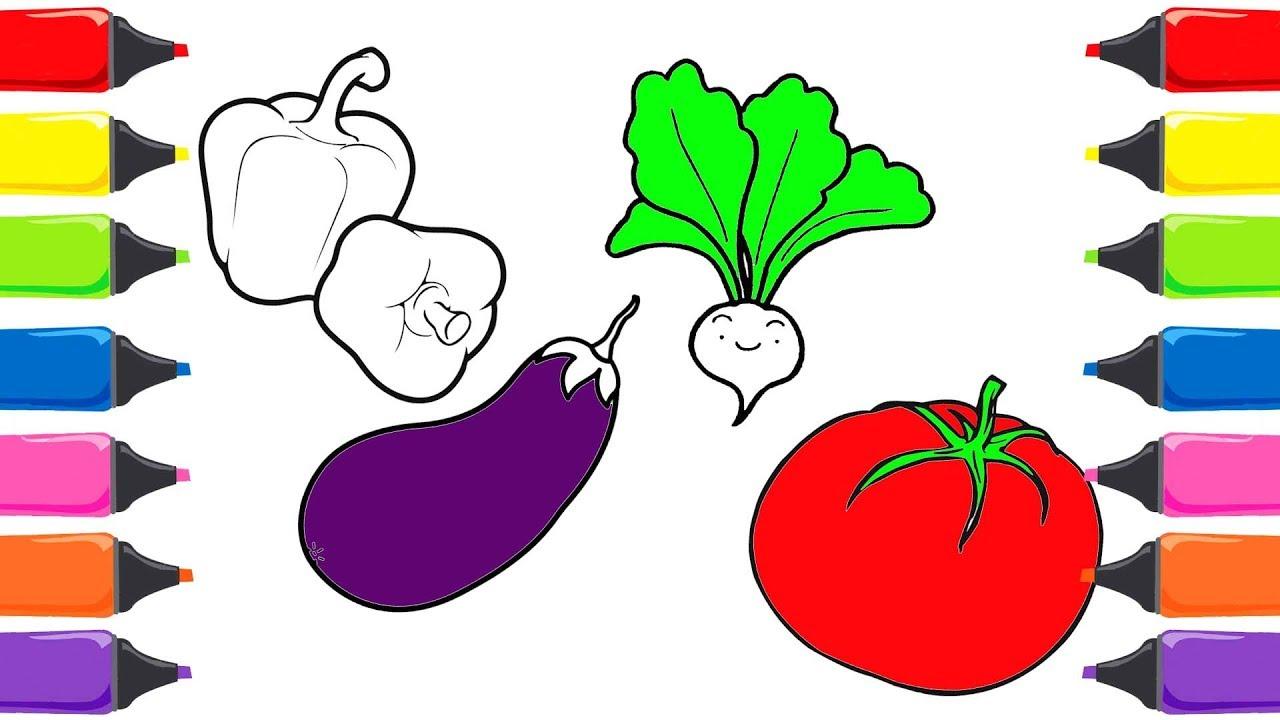 Sebzeleri öğreniyorum Biber Patlıcan Domates Sebzeler Ve Meyveler
