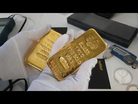 4 x 1kg PAMP Suisse Gold Bullion Cast Bars - Unboxing Video!