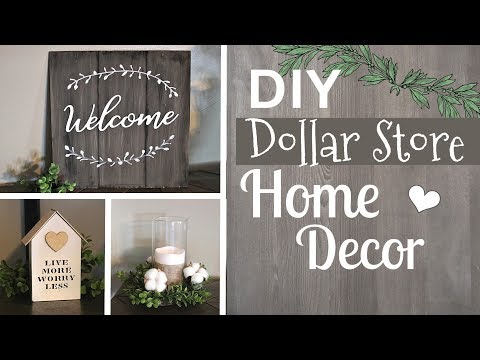 DIY Farmhouse Dollar Store Ideas | Farmhouse Dollar Tree Home Decor |  Krafts by Katelyn