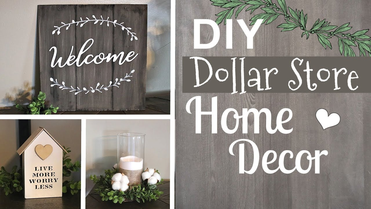 Diy Farmhouse Dollar Store Ideas Farmhouse Dollar Tree Home Decor Krafts By Katelyn Youtube