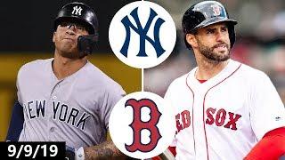 Yankees vs. Red Sox Highlights   September 9, 2019   2019 MLB Season