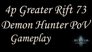 [S3] Greater Rift 73 - 4p Fire Natalya PoV (feat. Era, Tizzle, and Fausto)