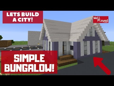 HOW TO BUILD A SIMPLE BUNGALOW! Minecraft Lets Build A City Ep71