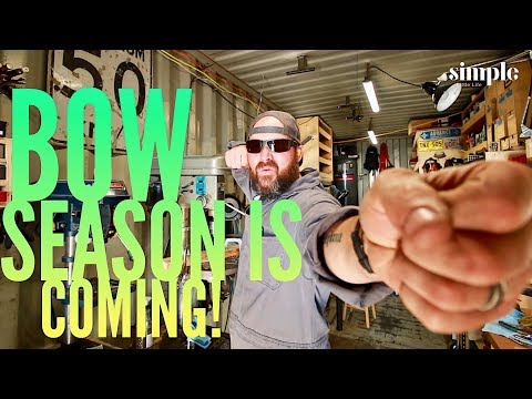 Bow season is coming! - Knife maker's daily vlog