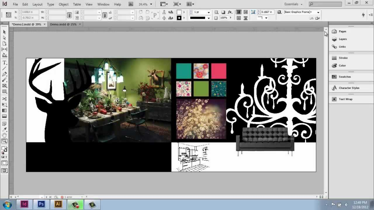 Adobe indesign cs6 interior design portfolio part 10 for Indesign interior