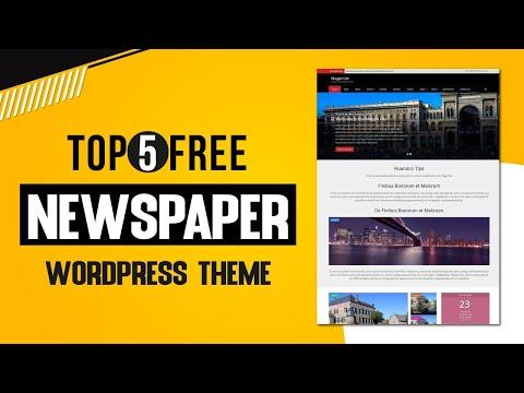 Top 5 Free Newspaper Wordpress Theme | Free Newsportal Theme | Free Themes | NDevs