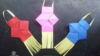 How to make akash kandil at home with paper/ दिवाली मे आकाश कन्दिल बनाएँ अब घर मे बहुत सरल तरीके से