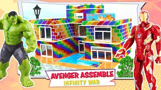 How To Make A Villa With Fish Tank By 500,000 Magnetic Balls For Superhero   Magnet Super