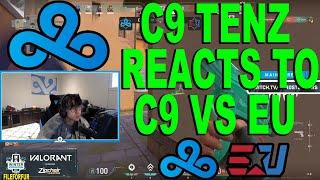 NEW PLAYER!! TENZ REĄCTS TO Cloud9 Blue vs eUnited | Nerd Street Gamers - Winter Championship BO3