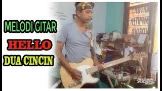 Download Mp3 Dua Cincin - Hello || Latihan Gitar Melodi Suara Dua, Awal E Berantakan