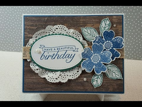Stampin' Up!  Birthday Blossoms - Pansy Punch - Flower Shop  Card