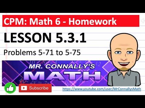 Mr. Connally's Math: CPM Math 6 - Lesson 5.3.1 HW