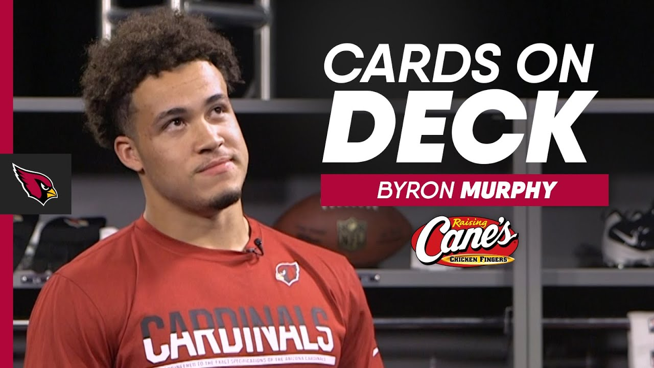 Byron Murphy Admits His Biggest Fear & Fave Emojis | Arizona Cardinals