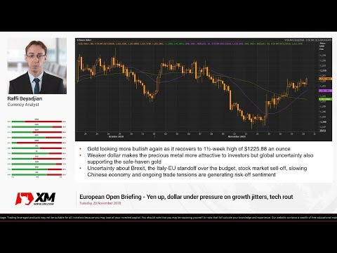 Forex News: 20/11/2018 - Yen up, dollar under pressure on growth jitters, tech rout