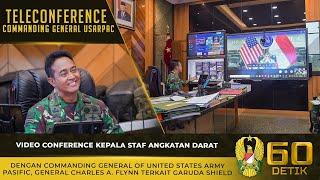 Video Conference Kasad dengan Commanding General of USARPAC Terkait Garuda Shield