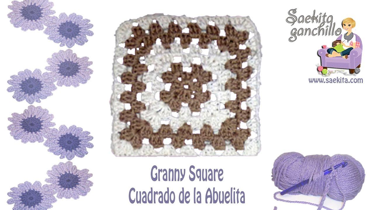 Cuadrado de la Abuelita (Granny Square) con cambio de color ...