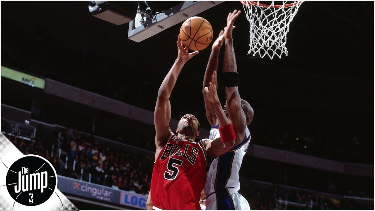 Is Michael Jordan s 2-handed block the best of all time  l Make or Miss  9edb3e960ef5