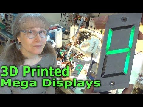 3D Printed Mega Displays