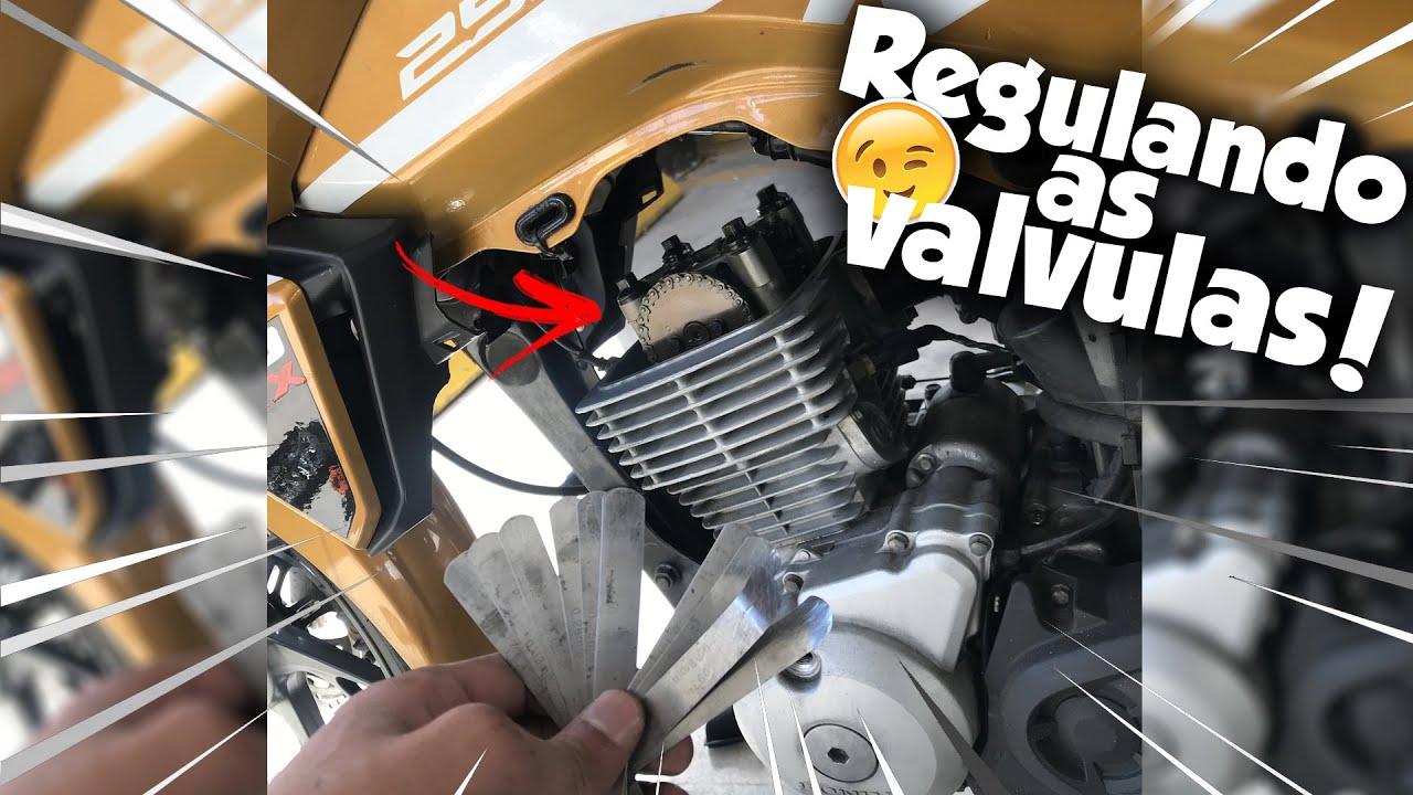 REGULANDO VÁLVULAS DA CG 150 EM CASA ! 🤩