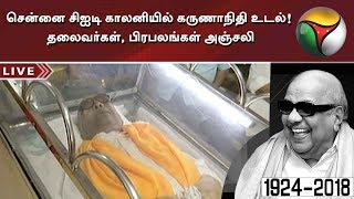 Political leaders, Celebrities pay last respect to DMK Chief Karunanidhi at CIT Colony in Chennai